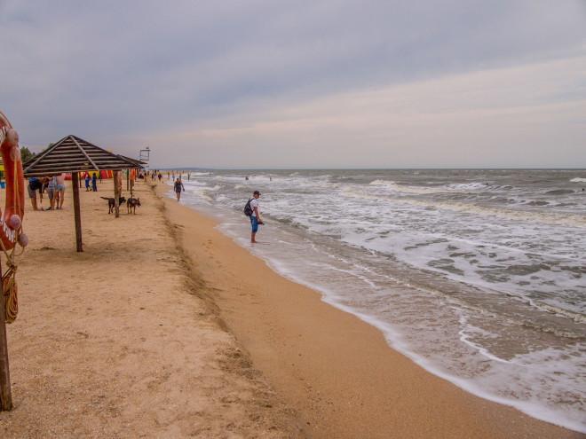 Пляж станицы Голубицкой