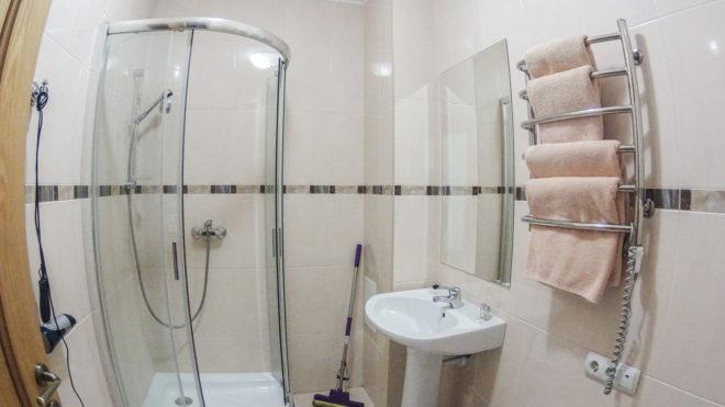 ванная в вилле Цитадель в Алуште