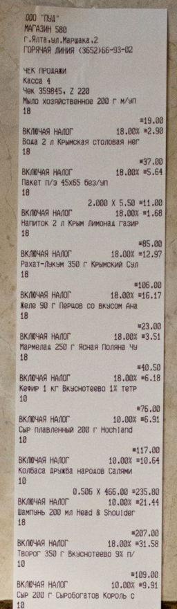 цены на продукты 2016 крым
