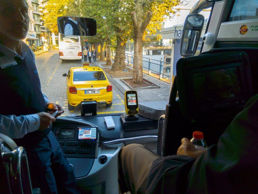 автобусы из аэропорта Стамбула внутри