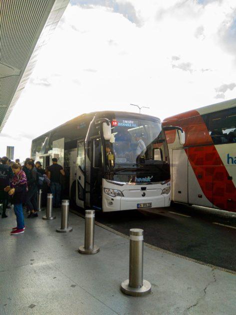 автобусах HavaIst в аэропорт Стамбула