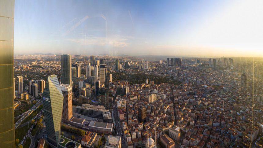 вид со смотровой Стамбула