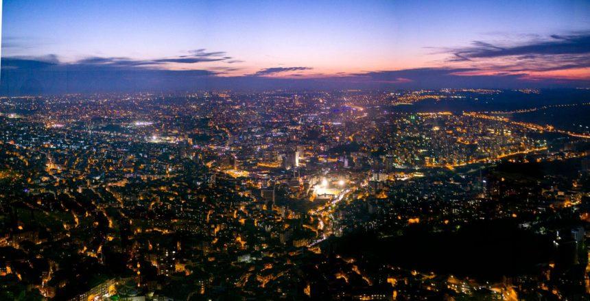 Вид со смотровй Сапфир ночью