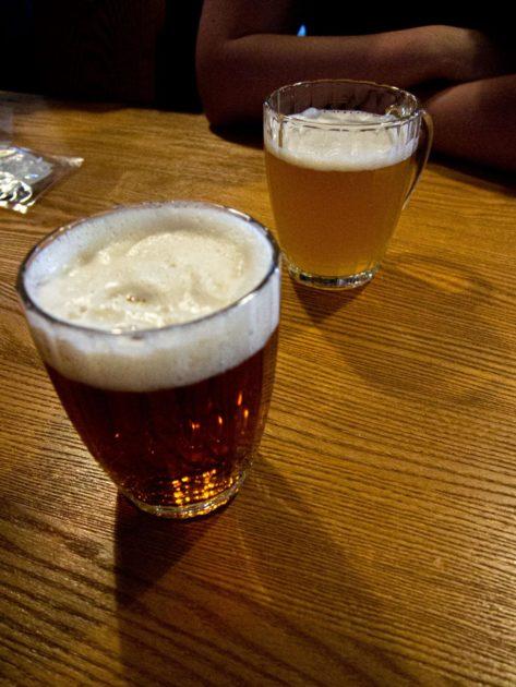 Пиво светлое и темное