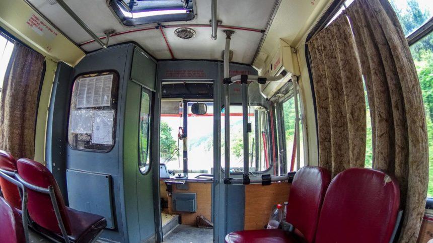 Крымский троллейбус внутри