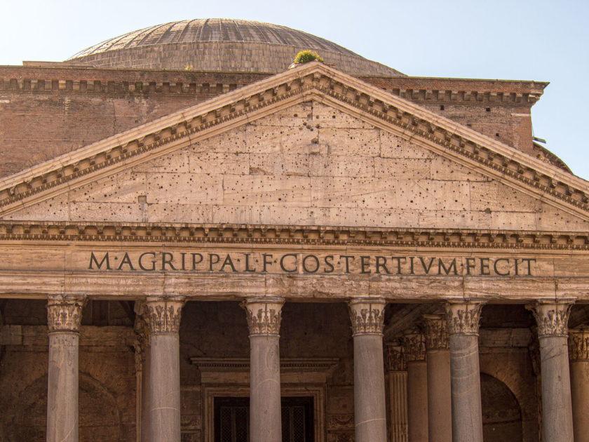 надпись на фронтоне Пантеона