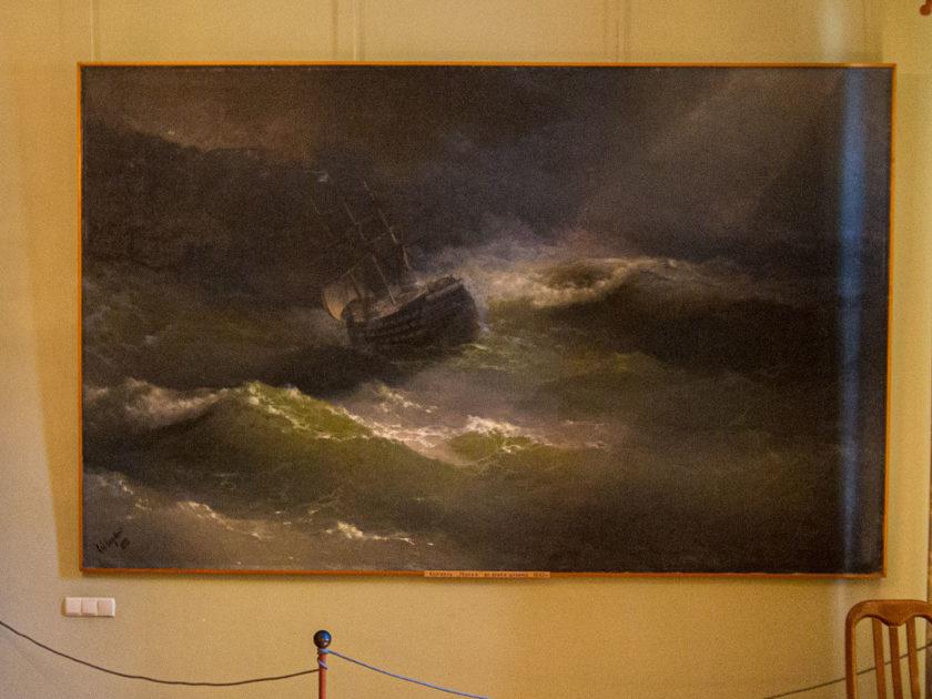"""Картина Айвазовского Корабль """"Мария"""" на Северном море"""
