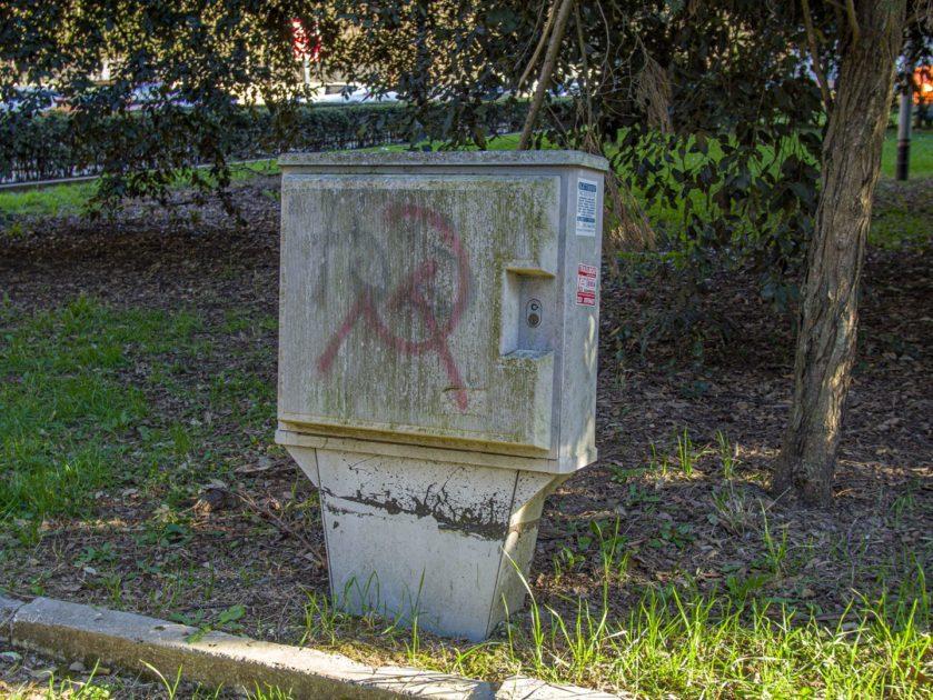 граффити серп и молот в Риме