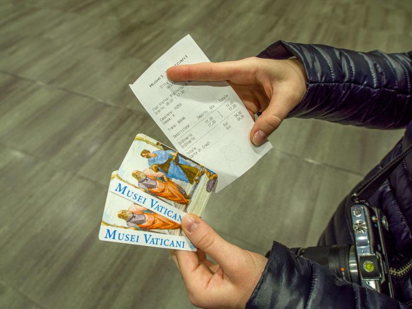 Цена билета в Ватикан
